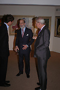 Lord Alexander Spencer-Churchill and Prince Michael of Kent. 'The Road to Abtsraction' an exhibition of paintings by Rosita Marlborough. the Fleming Collection. 13 Berkeley St. London W1. 31 March 2005. ONE TIME USE ONLY - DO NOT ARCHIVE  © Copyright Photograph by Dafydd Jones 66 Stockwell Park Rd. London SW9 0DA Tel 020 7733 0108 www.dafjones.com