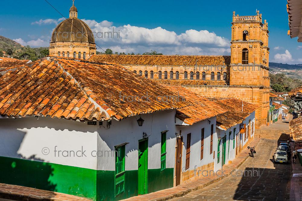 Barichara Skyline Cityscape Santander in Colombia South America