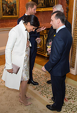 Heavily pregnant Meghan Markle attends reception at Buckingham Palace - 6 March 2019
