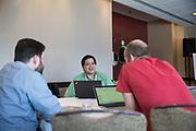 The Linux Foundation hosts its Linux Storage Filesystem & MM Summit 2017 at the Hyatt Regency Cambridge in Cambridge, Massachusetts, on March 20, 2017. (Stan Olszewski/SOSKIphoto)