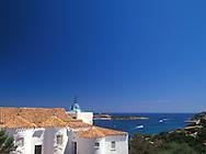The Stella Maris Church above Porto Cervo<br /> Harbour   Costa Smeralda  Sardinia<br /> Italy