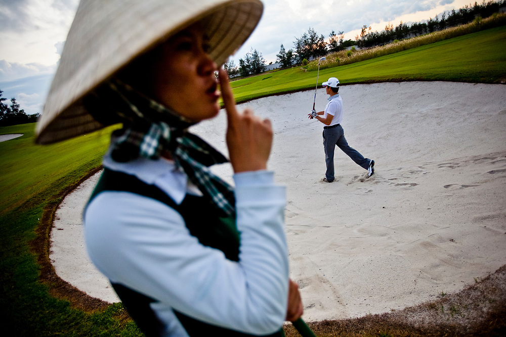 The Montgomerie Links golf course just outside of Hoi An in central Vietnam.