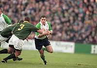 Ireland Vs South Africa in Lansdowne Road, circa November 1998 (Part of the Independent Newspapers Ireland/NLI Collection).