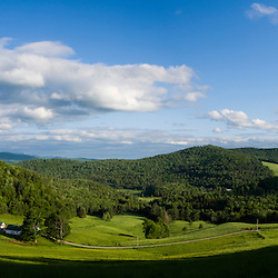 A farm in Barnet Center, Vermont.  Connecticut River valley.