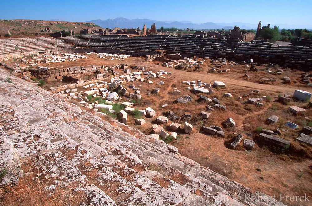 TURKEY, GREEK AND ROMAN PERGE; Roman stadium seating 12,000