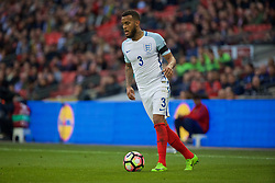 LONDON, ENGLAND - Sunday, March 26, 2017: England's Ryan Bertrand in action against Lithuania during the 2018 FIFA World Cup Qualifying Group F match at Wembley Stadium. (Pic by Xiaoxuan Lin/Propaganda)