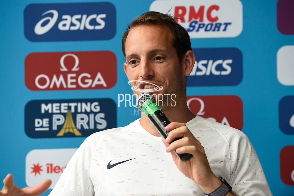 Renaud Lavillenie (FRA) during press conference of Meeting de Paris 2018, Diamond League, at Hotel Marriott, in Paris, France, on June 29, 2018 - Photo Jean-Marie Hervio / KMSP / ProSportsImages / DPPI