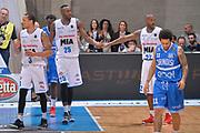 JaJuan Johnson, Zabian Dowdell, Nic Moore<br /> Mia Pallacanestro Cantu - Enel New Basket Brindisi<br /> Lega Basket Serie A 2016/2017<br /> Desio, 19/03/2017<br /> Foto M.Ceretti / Ciamillo - Castoria