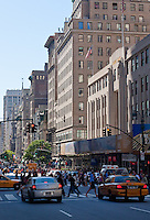 6th avenue street scene in New york City in October 2008