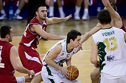 Milorad Sutulovic (5) of Olimpija at basketball match of 4th Round of NLB League between KK Union Olimpija and KK Crvena zvezda,  on October 24, 2009, Arena Tivoli, Ljubljana, Slovenia.  Union Olimpija won 94:76.  (Photo by Vid Ponikvar / Sportida)