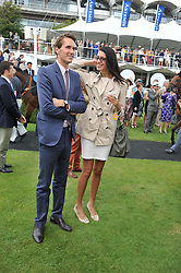 OTIS FERRY and ELIF KUTSAL at the 3rd day of the 2012 Glorious Goodwood racing festival at Goodwood Racecourse, West Sussex on 2nd August 2012.