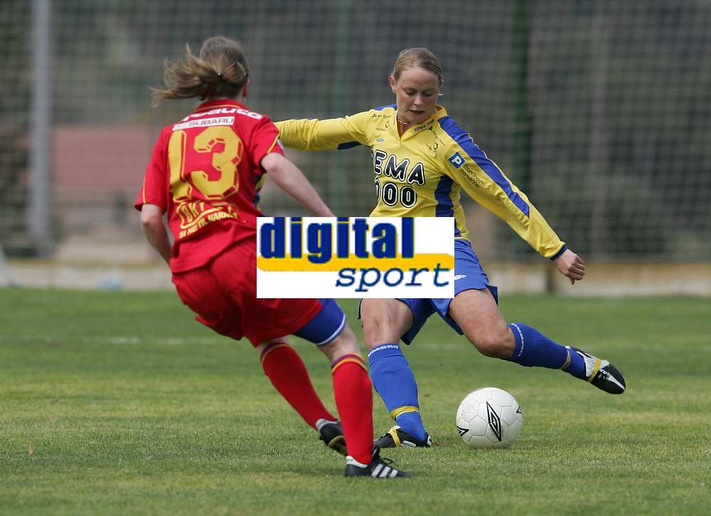 Ann Iren Mørkved, Trondheims-Ørn. Fotball: Røa - Trondheims-Ørn. La Manga 2005. 4. april 2005. (Foto: Peter Tubaas/Digitalsport).