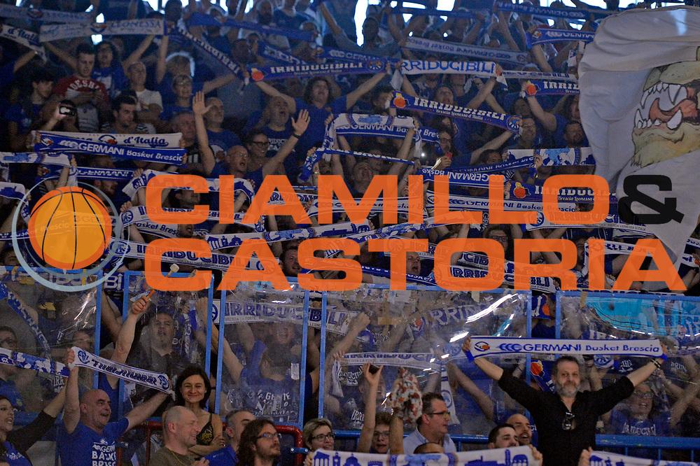 brescia tifosi<br /> Vanoli Cremona - Germani Basket Brescia Leonessa<br /> Lega Basket Serie A 2016/2017<br /> Cremona, 09/04/2017<br /> Foto M.Ceretti / Ciamillo - Castoria