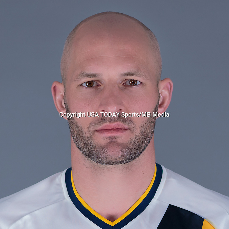 Feb 25, 2016; USA; LA Galaxy player Jelle Van Damme poses for a photo. Mandatory Credit: USA TODAY Sports