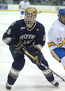 Notre Dame's Ian Cole during Friday nights game against Lake Superior State in Sault Ste. Marie