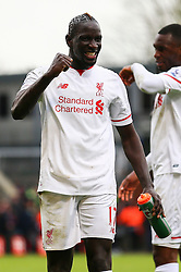 Mamadou Sakho of Liverpool celebrates their win, Crystal Palace 1-2 Liverpool - Mandatory byline: Jason Brown/JMP - 07966386802 - 06/03/2016 - FOOTBALL - London - Selhurst Park - Crystal Palace v Liverpool - Barclays Premier League