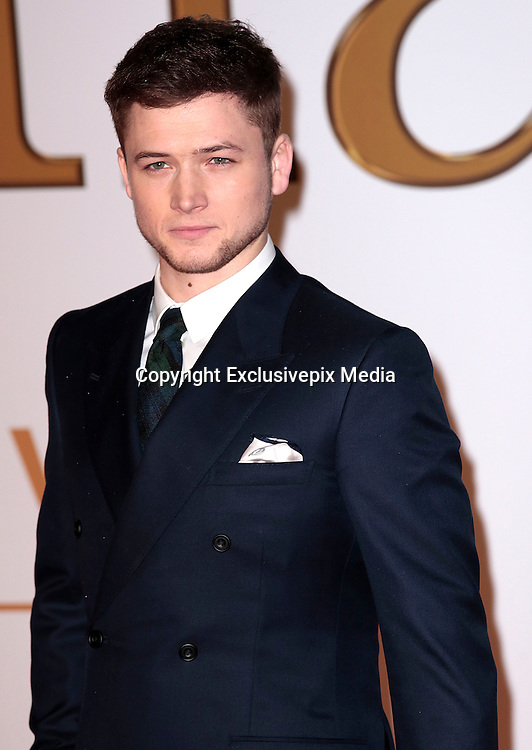 "Jan 14, 2015 - ""Kingsman: The Secret Service"" - World Premiere - Red Carpet Arrivals at Odeon,  Leicester Square, London<br /> <br /> Pictured: Taron Egerton<br /> ©Exclusivepix Media"