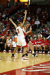 13 January 2007: Breton Wyett works past Tamara Butler. The Missouri State Bears lost to the Redbirds of Illinois State University at Redbird Arena in Normal Illinois by a score of 76-47.<br />