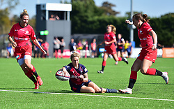Row Marston of Bristol Bears Women puts over a try. - Mandatory by-line: Alex James/JMP - 21/09/2019 - RUGBY - Shaftesbury Park - Bristol, England - Bristol Bears Women v Saracens Women - Tyrrells Premier 15s