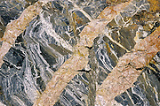 Detail of veins in rock<br /> Schreiber<br /> Ontario<br /> Canada