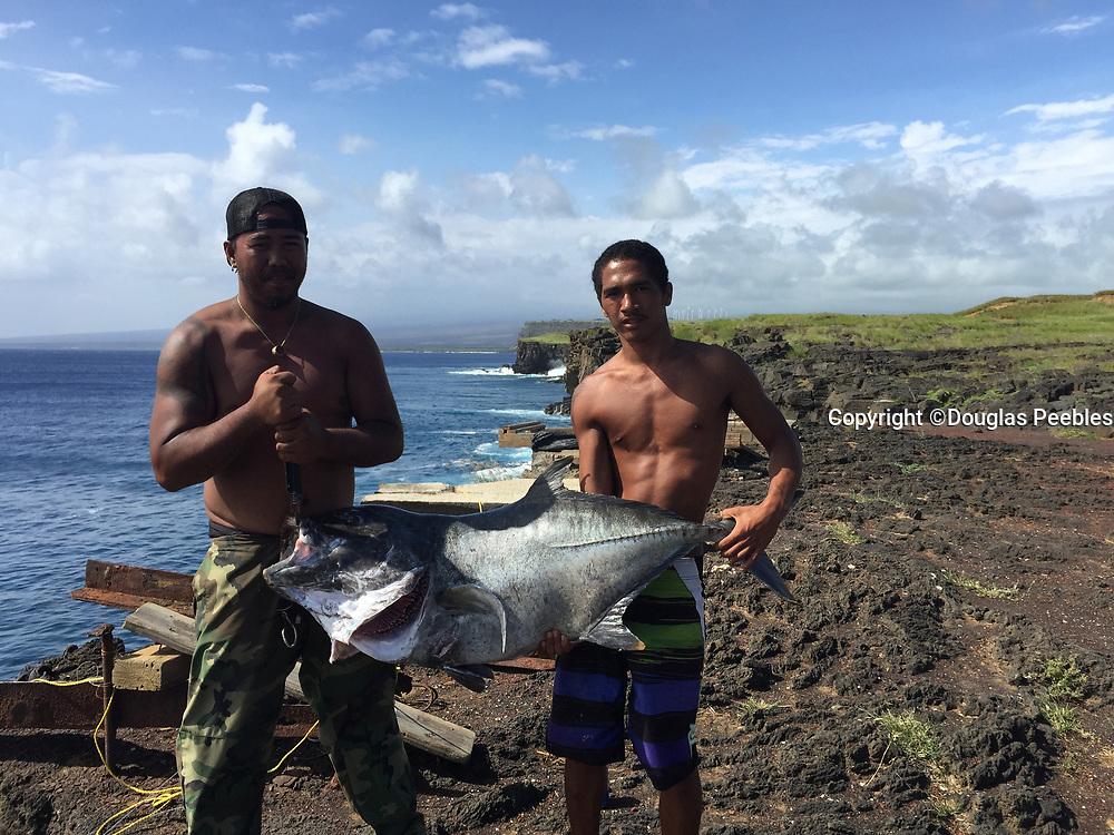 Fishing, Ulua, South Point, Big Island of Hawaii, Hawaii