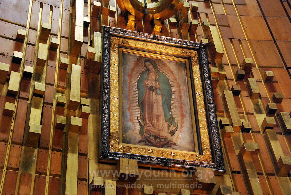 "Mexico, Federal District, Mexico City, December 11-12, 2011. In one of the largest pilgrimages in the world, millions of faithful come from all over Mexico to the Basilica of the Virgin of Guadalupe in celebration of the country's patron saint. For many, Guadalupe represents both the Christian Virgin Mary and the Aztec earth mother Tonantzin: to the ""peregrinos,"" as they are known, Juan Diego's vision in 1531 of a young woman on a Tepeyac hill was the start of an enduring legend which inspires to this day. More at MexicoCulturalCalendar.com"