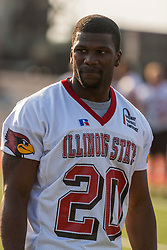 "16 August 2004   Running Back Demetrus Johnson    ""Meet the Redbirds"" evening at Illinois State University, Normal IL"