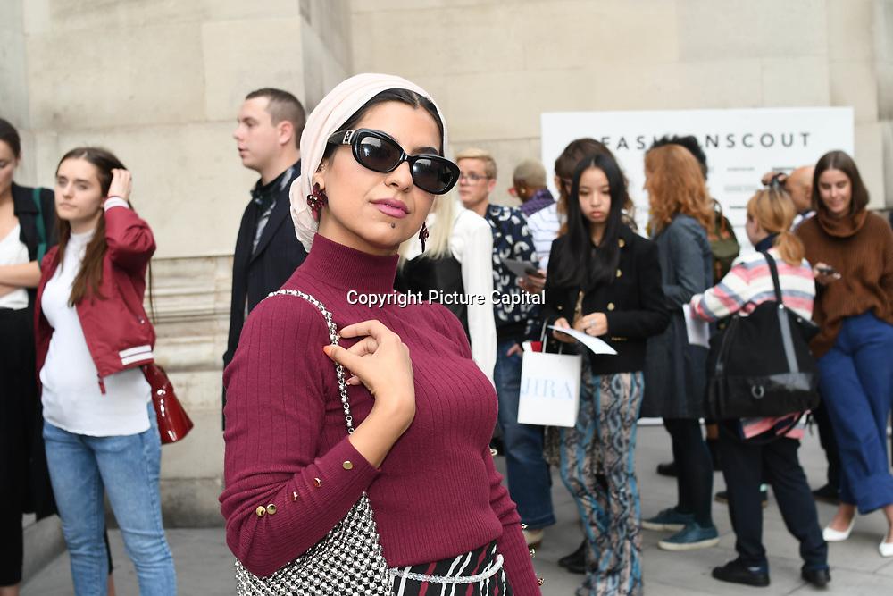 Eslam Gazelle - Eslamesaz attend Fashion Scout - SS19 - London Fashion Week - Day 2, London, UK. 15 September 2018.