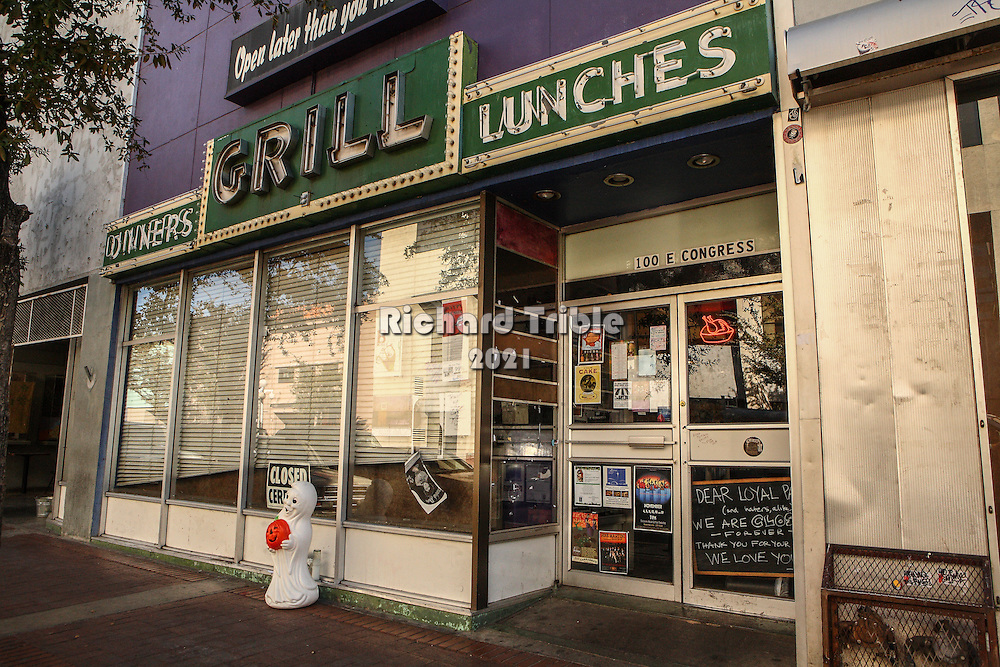 Former Grill and Red Room on Congress Street. Photos taken 2 days after it closed.