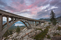 """Sunset at Rainbow Bridge 3"" - Photograph of Rainbow Bridge at sunset, above Donner Lake and Truckee, California."
