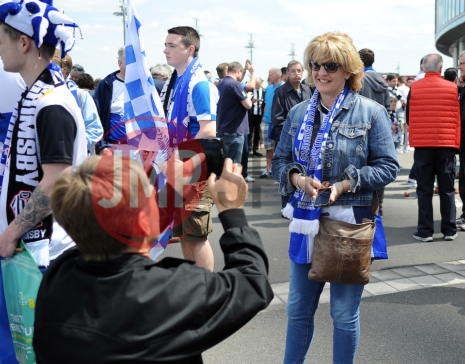 Fans- Photo mandatory by-line: Neil Brookman/JMP - Mobile: 07966 386802 - 17/05/2015 - SPORT - football - London - Wembley Stadium - Bristol Rovers v Grimsby Town - Vanarama Conference Football