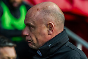 Fleetwood Town Manager Uwe R?sler during the EFL Sky Bet League 1 match between Fleetwood Town and Blackburn Rovers at the Highbury Stadium, Fleetwood, England on 20 January 2018. Photo by Michal Karpiczenko.