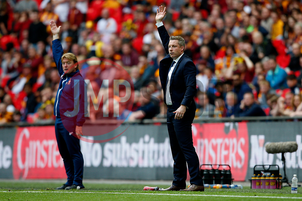 Millwall manager Neil Harris and Bradford City manager Stuart McCall appeal - Mandatory by-line: Matt McNulty/JMP - 20/05/2017 - FOOTBALL - Wembley Stadium - London, England - Bradford City v Millwall - Sky Bet League One Play-off Final