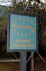 Welcome sign to Charles Pinckney National Historic Site, near Charleston, South Carolina, United States of America.