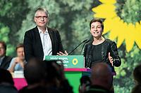 16 NOV 2019, BIELEFELD/GERMANY:<br /> Sven Giegold (L), MdEP, B90/Gruene, Ska Keller (R), MdEP, B90/Gruene, Vorsitzende Gruene Fraktion im EP, Bundesdelegiertenkonferenz Buendnis 90 / Die Gruenen, Stadthalle<br /> IMAGE: 20191116-01-032<br /> KEYWORDS: Parteitag, Bundesparteitag, Party congress, BDK; Die Grünen