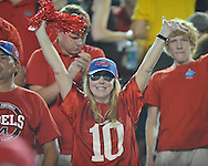 Rebel fans at Ole Miss vs. Vanderbilt in Nashville, Tenn. on Thursday, August 29, 2013.