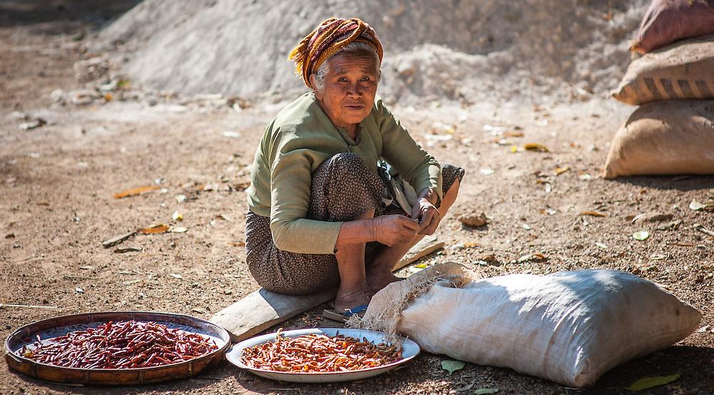 Countryside old woman (Myanmar)