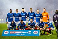Football - 2019 Betfred Scottish League Cup Final - Celtic vs. Rangers<br /> <br /> Rangers team picture, Hampden Park Glasgow.<br /> <br /> COLORSPORT/BRUCE WHITE