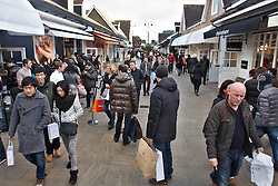 © Licensed to London News Pictures.  17/12/2011. Bicester, UK. Shoppers at Bicester Village today (Sat) on what is traditionally the busiest shopping day in the run up to Christmas.  Photo credit :  Cliff Hide/LNP