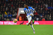 Terence Kongolo (5) of Huddersfield Town during the Premier League match between Bournemouth and Huddersfield Town at the Vitality Stadium, Bournemouth, England on 4 December 2018.