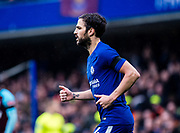 Chelsea (4) Cesc Fàbregas  during the Premier League match between Chelsea and West Ham United at Stamford Bridge, London, England on 8 April 2018. Picture by Sebastian Frej.