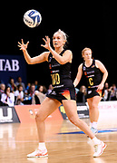 Magic wing defense Hayley Saunders during the ANZ Premiership netball match - Magic v Tactix played at Claudelands Arena, Hamilton, New Zealand on 30 July 2018.<br /> <br /> Copyright photo: &copy; Bruce Lim / www.photosport.nz