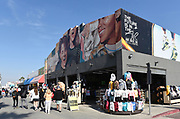 Novelty Shops and Tourists Along Ocean Front Walk in Venice Beach