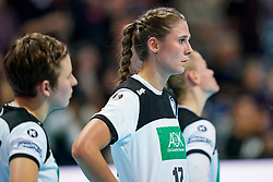 11-12-2019 JAP: Norway - Germany, Kumamoto<br /> Last match Main Round Group1 at 24th IHF Women's Handball World Championship, Norway win the last match against Germany with 32 - 29. / Alicia Stolle #17 of Germany