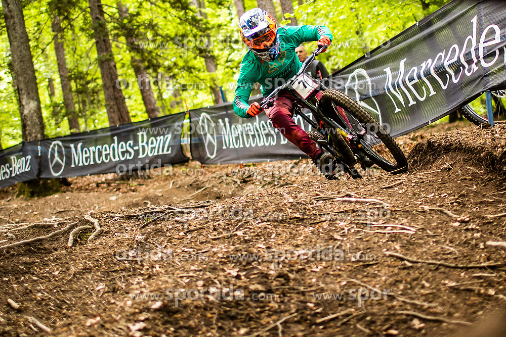 Loic Bruni of France during Mercedes-Benz UCI Mountain Bike World Cup competition final day in Bike Park Pohorje, Maribor on 28th of April, 2019, Slovenia.  . Photo by Grega Valancic / Sportida