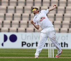 Hampshire's Liam Dawson bowls - Photo mandatory by-line: Robbie Stephenson/JMP - Mobile: 07966 386802 - 21/06/2015 - SPORT - Cricket - Southampton - The Ageas Bowl - Hampshire v Somerset - County Championship Division One