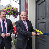 Cllr Paul Murphy, Joe Carey, TD and  Michael Ring, TD, Junior Minister for Sport, cutting the ribbon at the Official opening of 'The Castle', Antique, Arts & Craft Centre in Clarecastle