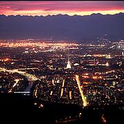 Torino veduta panoramica dalla collina di Superga