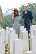 """CATHERINE, DUCHESS OF CAMBRIDGE AND PRINCE WILLIAM.visited the Kranji Commonwealth War Cemetery on their last day of their vsit to Singapore_13/09/2012.The Duchess used a parasol to protect her from the sun while she viewed the war graves..Mandatory credit photo: ©Dias/DIASIMAGES..(Failure to credit will incur a surcharge of 100% of reproduction fees)..                **ALL FEES PAYABLE TO: """"NEWSPIX INTERNATIONAL""""**..IMMEDIATE CONFIRMATION OF USAGE REQUIRED:.DiasImages, 31a Chinnery Hill, Bishop's Stortford, ENGLAND CM23 3PS.Tel:+441279 324672  ; Fax: +441279656877.Mobile:  07775681153.e-mail: info@newspixinternational.co.uk"""