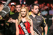 Adrian Lewis walk on during the Betway Premier League Darts Play-Offs at the O2 Arena, London, United Kingdom on 19 May 2016. Photo by Shane Healey.